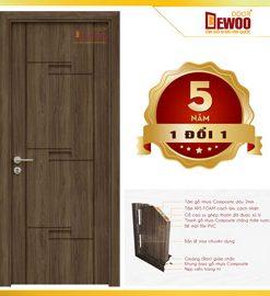 cửa gỗ nhựa ecowood mẫu 093