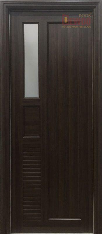 một bộ cửa nhựa vân gỗ pvc dw05f hoàn chỉnh
