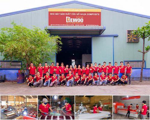 nhà máy sản xuất cửa gỗ nhựa composite DEWOO DOOR
