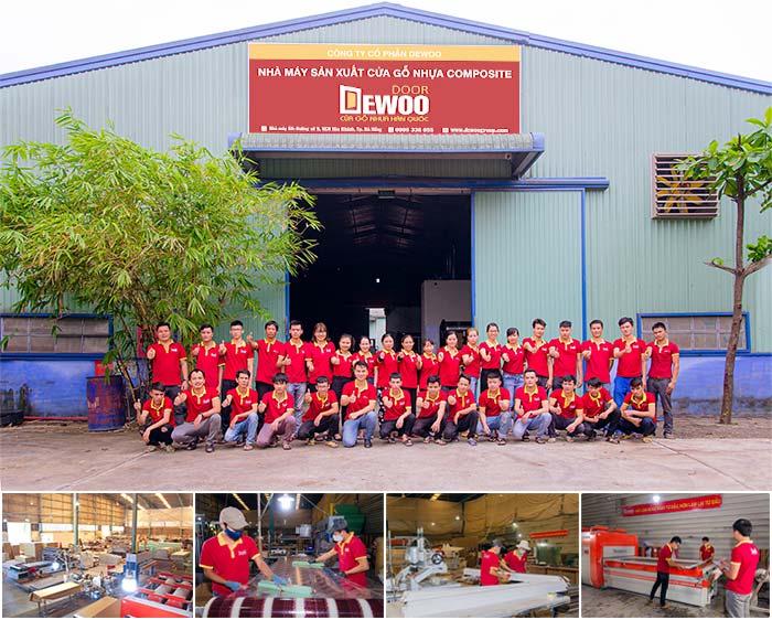 nhà máy cửa gỗ nhựa DEWOO DOOR