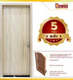 cửa gỗ nhựa composite mẫu 203