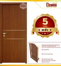 cửa gỗ nhựa composite mẫu 201