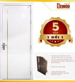 cửa nhựa gỗ ecowood mẫu 202