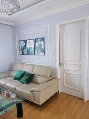 cửa gỗ nhựa kết hợp phong cách nội thất classic