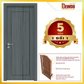 cửa nhựa gỗ composite mẫu 063