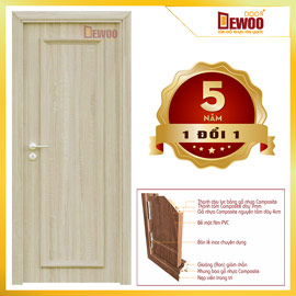 cửa gỗ nhựa composite mẫu 501