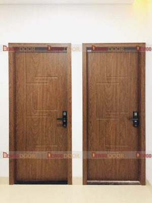 cửa gỗ nhựa composite phòng kép