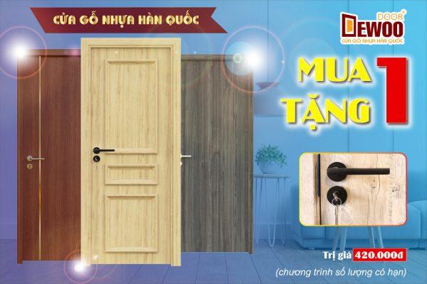 cửa nhựa đà nẵng DEWOO Door khuyến mãi